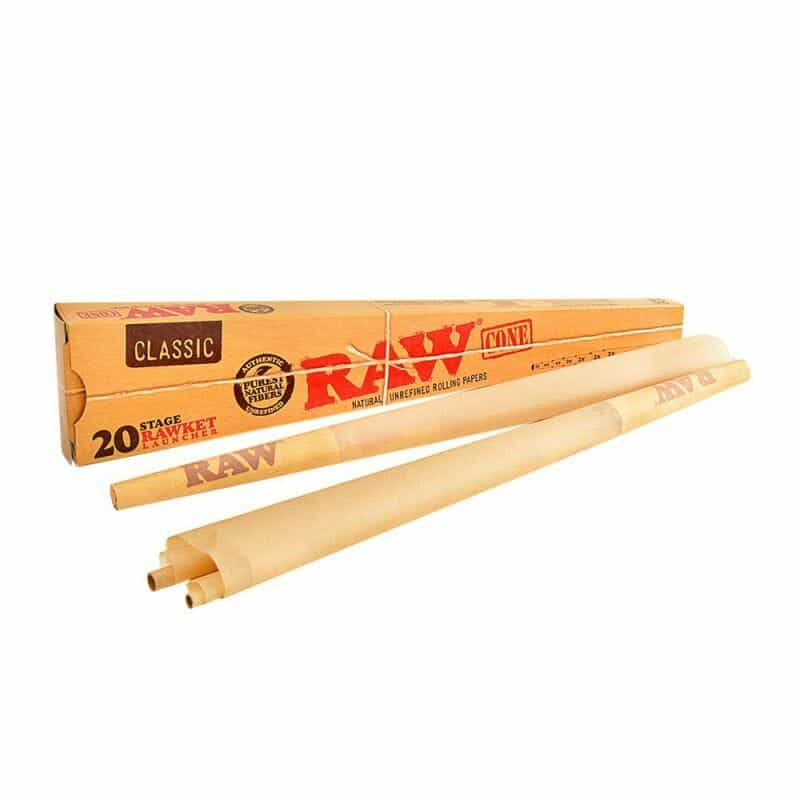 RAW Pre-Rolled Cones Pack – 20 Stage Rawket Launcher