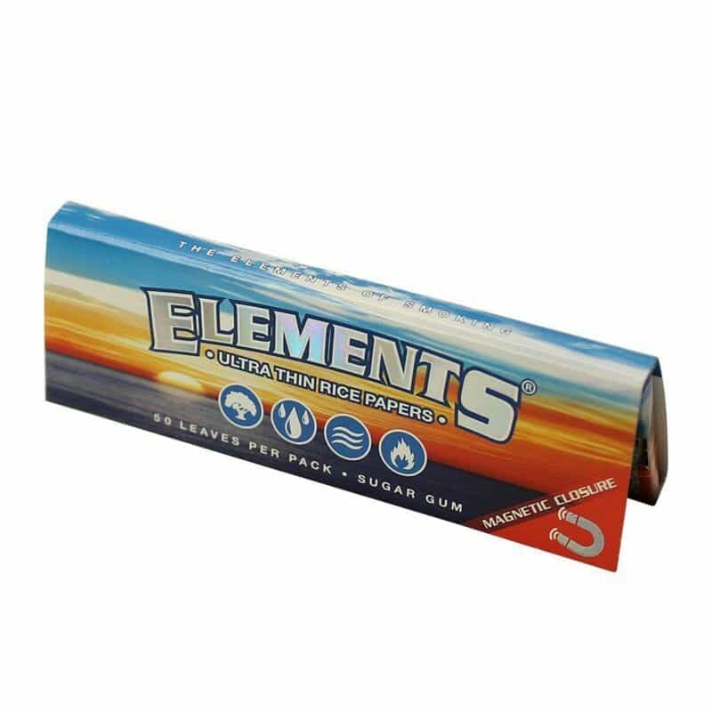 """Elements Rice Rolling Papers 1-1/4"""" - 1 pk"""