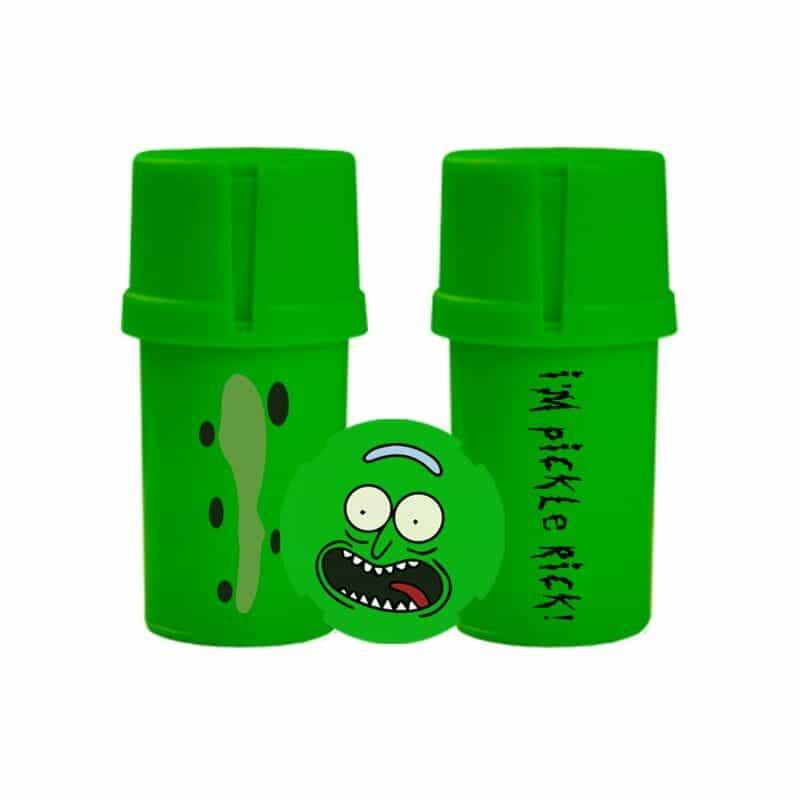The Medtainer Storage w/ Grinder Pickle Rick / Green - 20 Dram