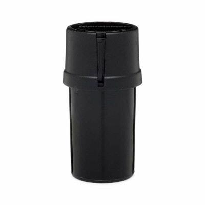 The Medtainer Storage w/ Grinder Large 40 Dram - Black