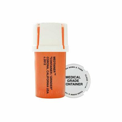 The Certified Child Resistant Medtainer Storage w/ Grinder / Printed – 20 Dram