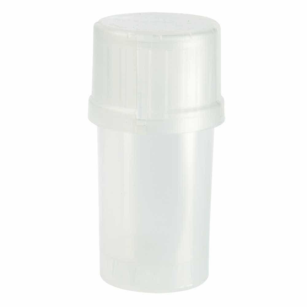 The Medtainer Storage w/ Grinder Large 40 Dram - Clear