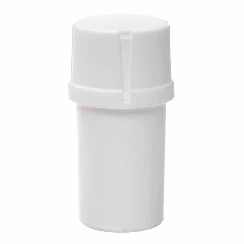 The Medtainer Storage w/ Grinder Large 40 Dram - White