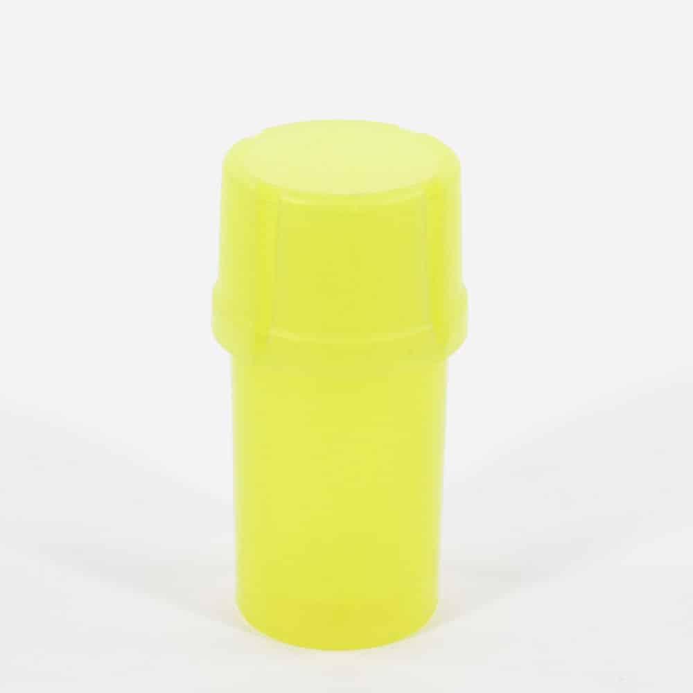 The Medtainer Storage w/ Grinder Translucent Yellow - 20 Dram