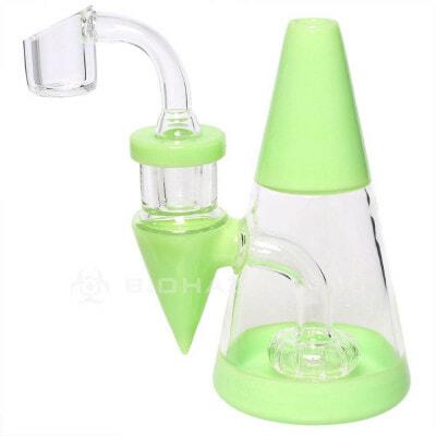 "Bio Hazard 5"" Minimalist Water Pipe Rig - Slime Green"