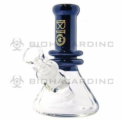 """Bio Hazard 5-6"""" Clear Heavy Beaker Water Pipe - 01"""