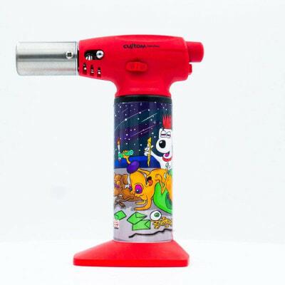 Custom Torches Nano Torch Dunkees Dawgs - Red - 01