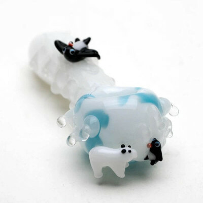 Empire Glassworks Icy Penguin Small Hand Pipe - 01