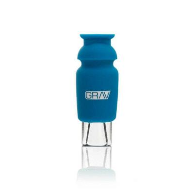 GRAV Silicone Capped Glass Crutch - Blue